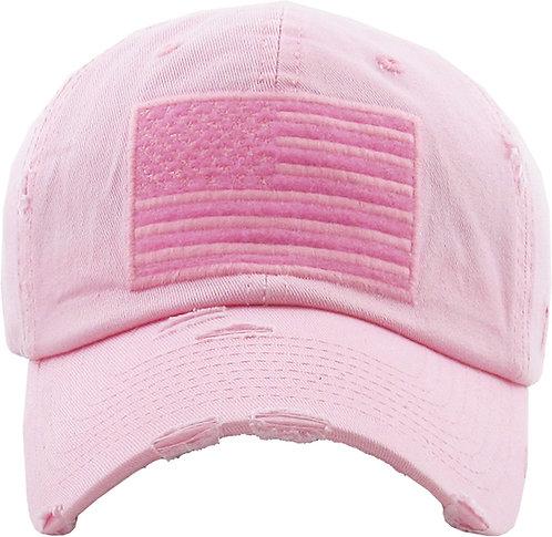 Pink Vintage Operator Hat