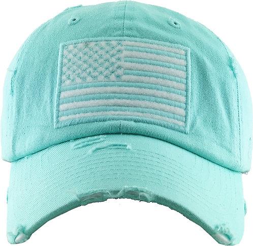 Teal Vintage Operator Hat