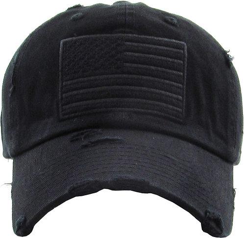 Black Vintage Operator hat