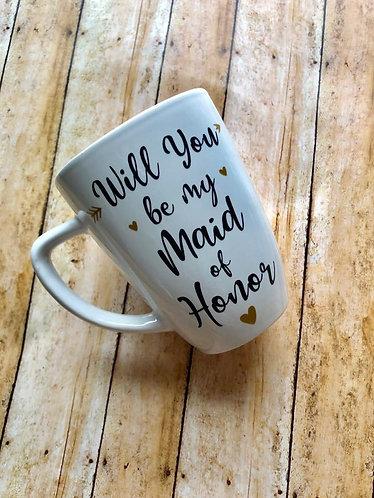 Custom Bridal Coffee Mugs