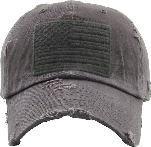 Dark Grey Vintage Operator hat