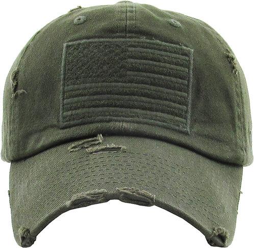 Olive Drab Vintage Operator hat