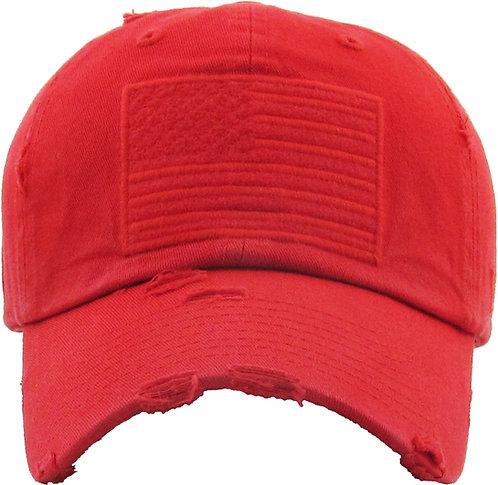 Red Vintage Operator hat