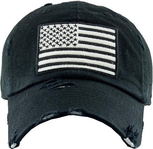 White Flag Vintage Operator Hat