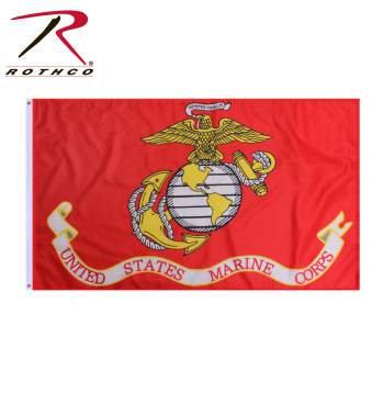 5'x3' Marine Corp Flag