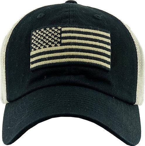 USA Tan Vintage mesh-Operator hat
