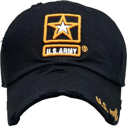 US Army Vintage Baseball cap Black