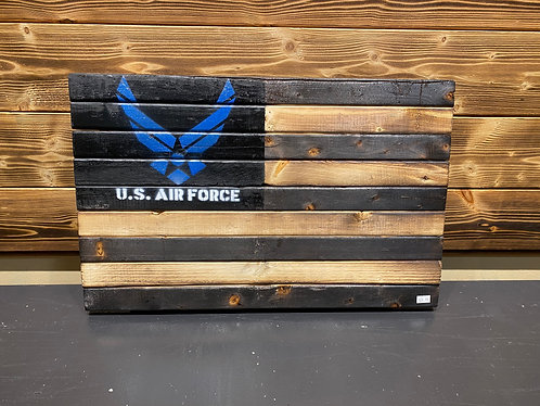US Air Force Wood Flag 13 x 21