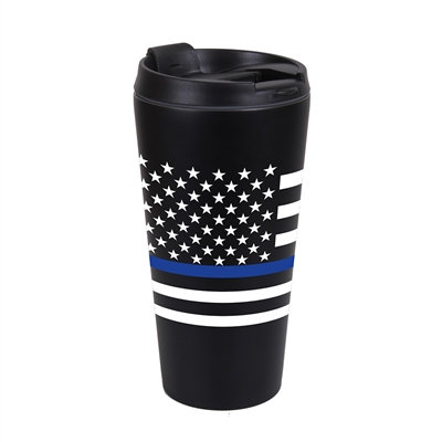 Thin Blue Line Flag Travel Mug