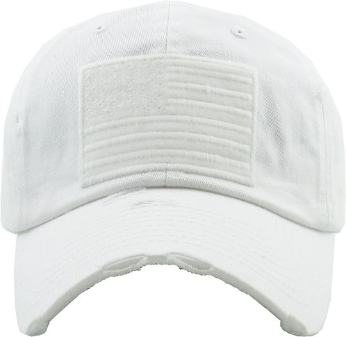 White Vintage Operator hat
