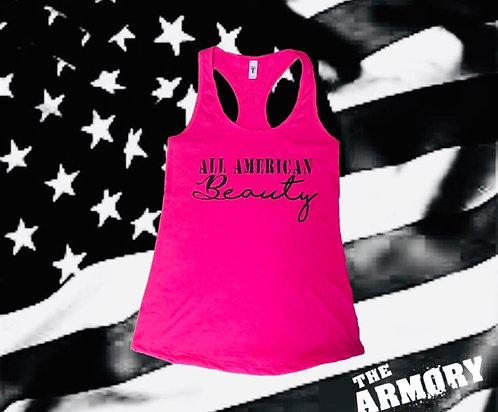 American Beauty Battle Tank - Pink