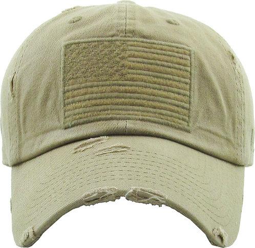 Khaki Vintage Operator hat