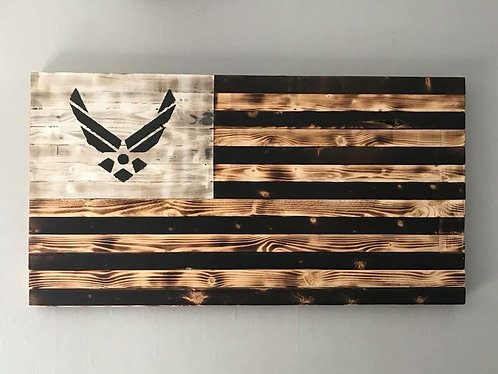 Air Force Wooden Flag
