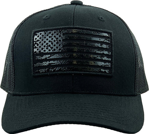Murdered Out Black Trucker