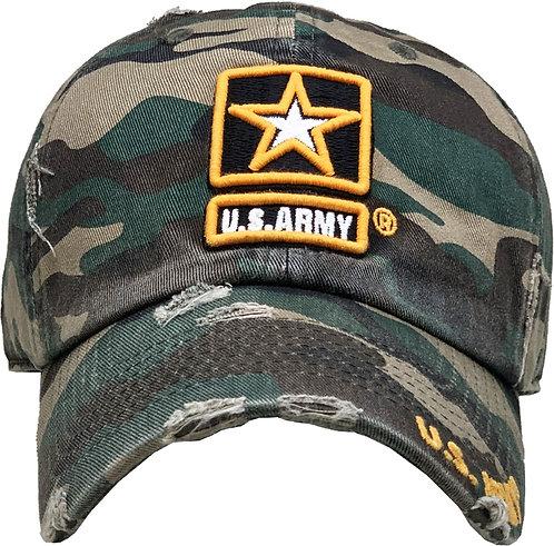 US Army Vintage Baseball cap woodland Camo