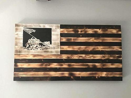Iwo Jima Wooden Flag