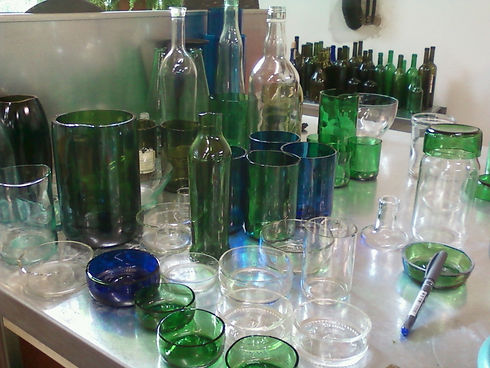 geschnittenes Glas