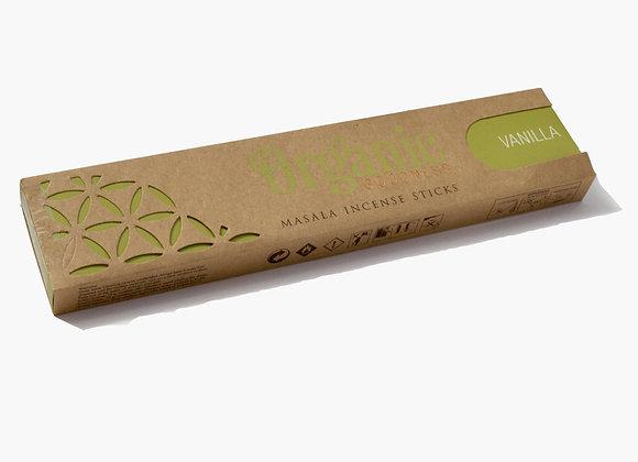 Organic VANILLA incense sticks