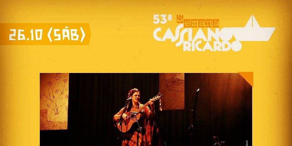 Kátya Teixeira na 53ª Semana Cassiano Ricardo