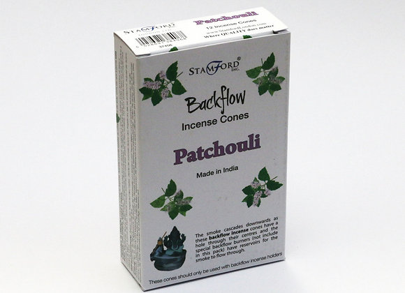 Backflow PATCHOULI incense cones