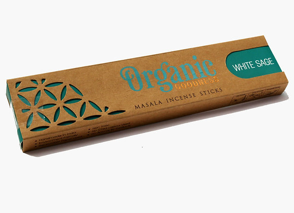 Organic WHITE SAGE incense sticks