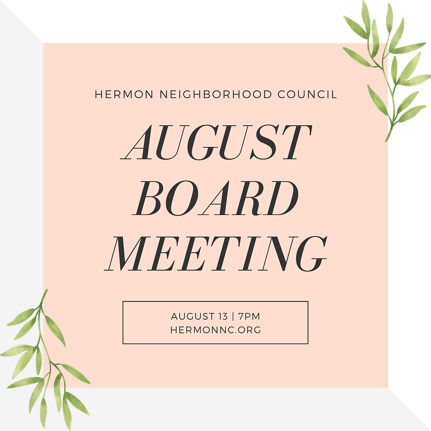 Hermon NC Special Board Meeting