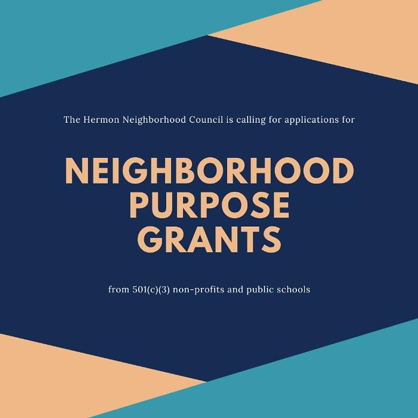 Neighborhood Purpose Grant Meeting