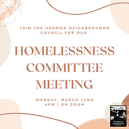 Homelessness Committee Meeting
