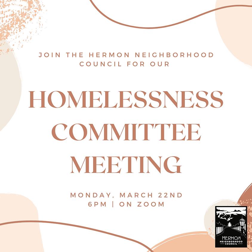 Homelessness Committee Meeting