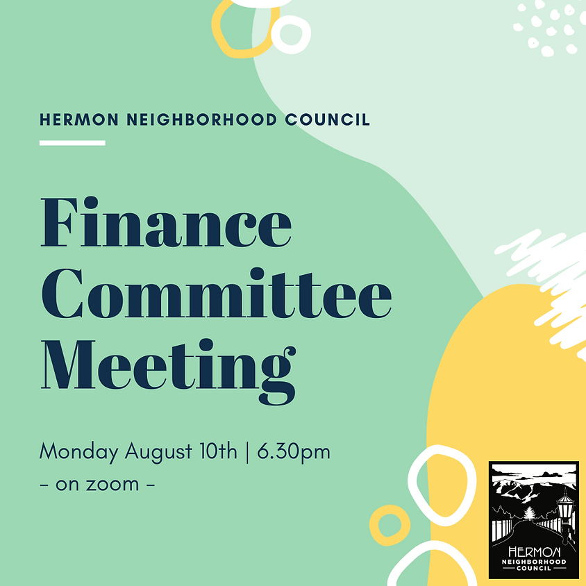 Special Finance Committee Meeting