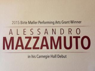 Mazzamuto Debuts at Carnegie Hall