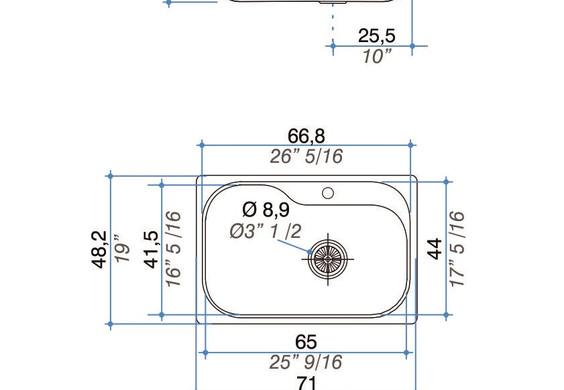 Medidas Luxor Compact SI71 A - Luxor Compact SI7