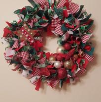 round rag wreath