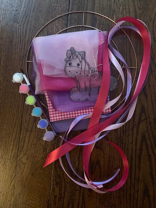 Unicorn wreath kit