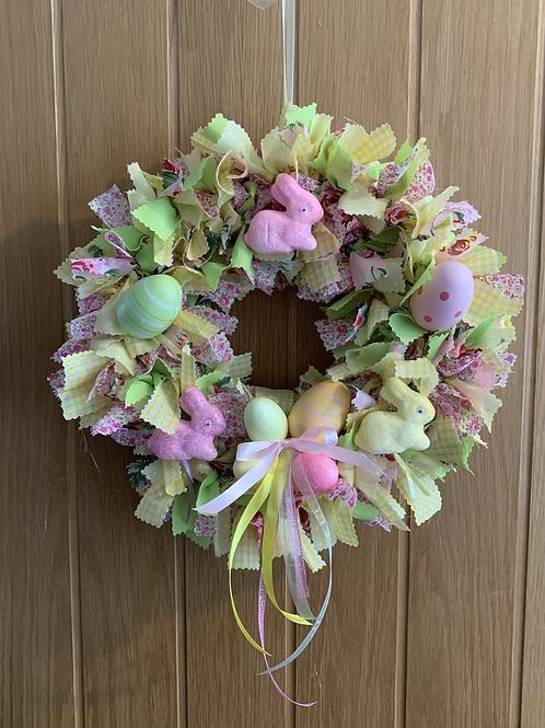 Easter rag wreath kit