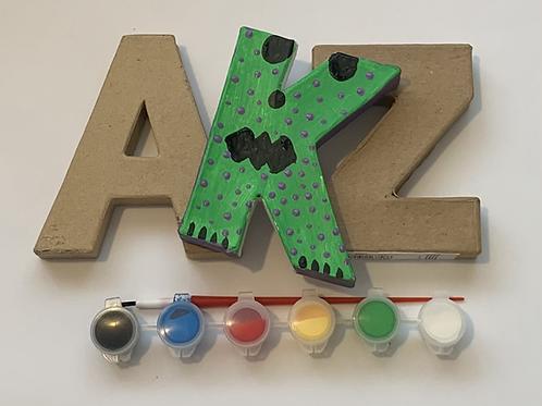 Paint a letter craft kit