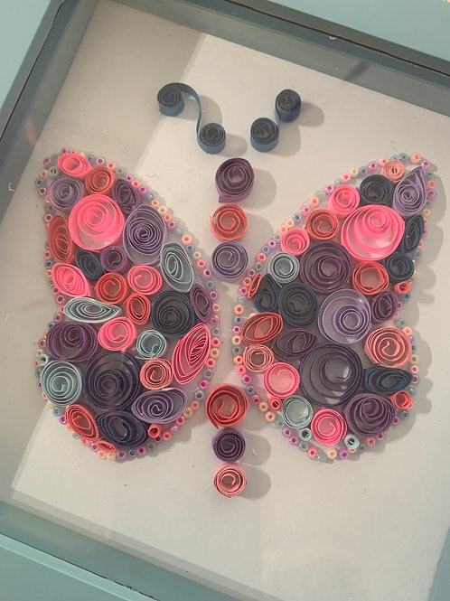 Paper quilling a picture