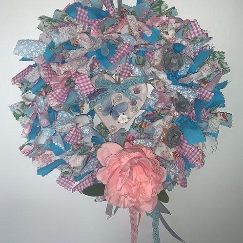 Round rag wreath kit