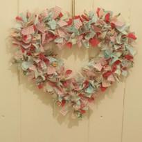 Heart rag wreath