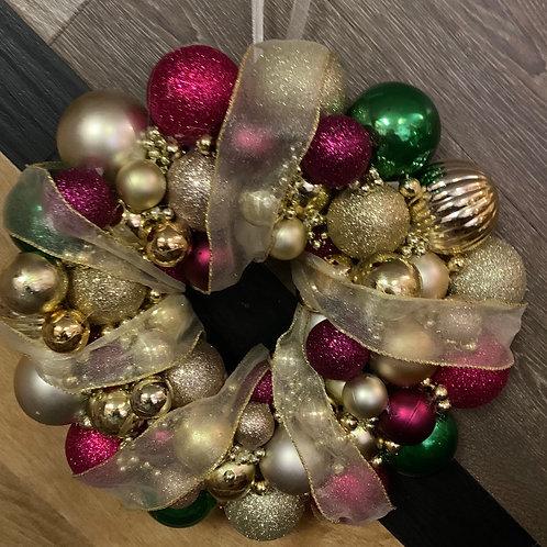 Christmas bauble wreath kit