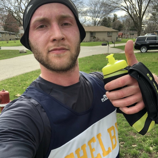 Miles for donation co-creator on a run.