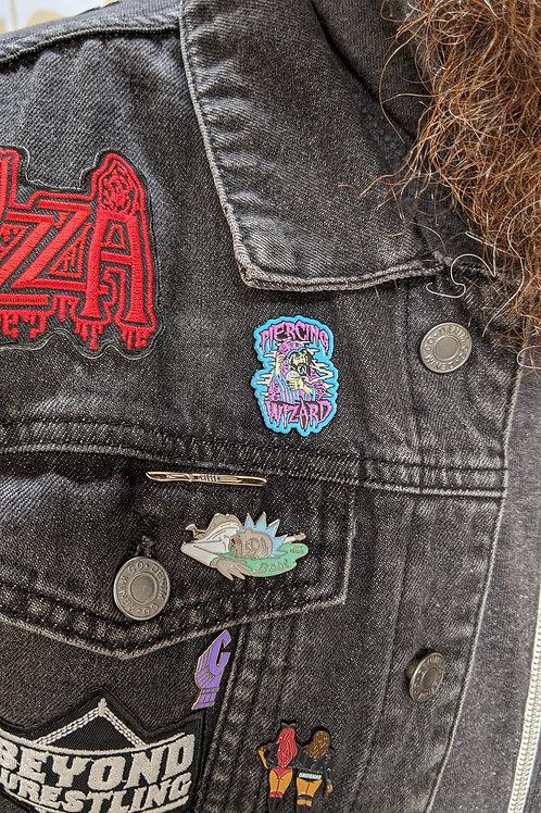 Piercing Wizard enamel pin