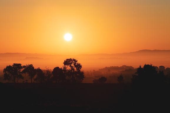Sunrise in the Vallès