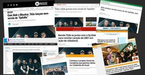 Imprensa repercute parceria dos Titãs e DJ Alok em prol do Instituto Anelo