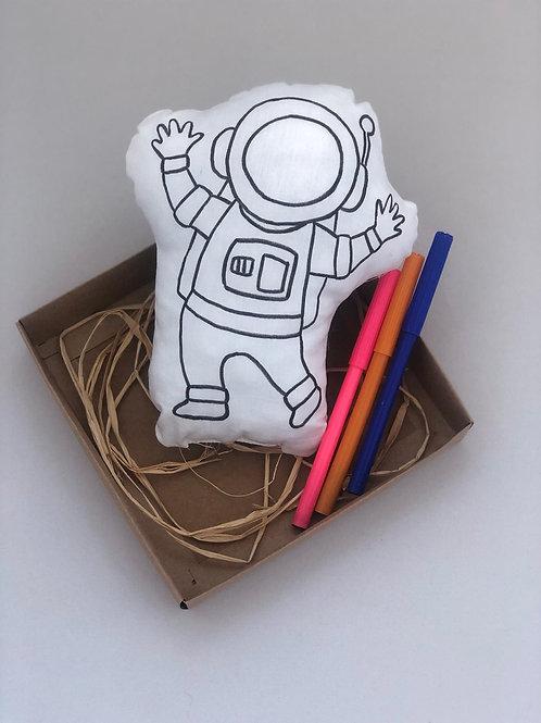 Astronot Modeli Bez Oyuncak Boyama