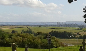 view of Glasgow from Baldernock Church.j