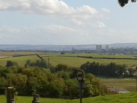 View from north Baldernock