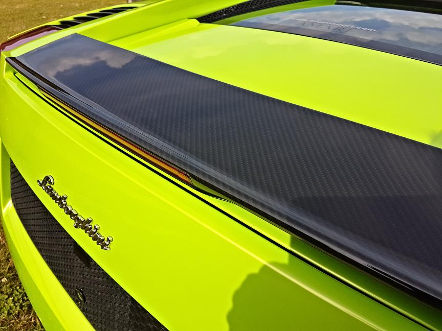 Lamborghini spoiler hydro dipped