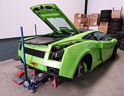 Lamborghini being stripped