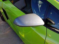 Lamborghini mirrors before being hydro dipped